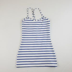 Lululemon white and blue Stripe racer back tank 2
